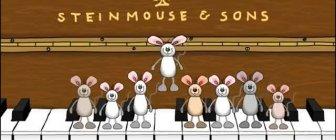Video de feliz aniversário para Whatsapp, com ratinhos fofinhos no piano.