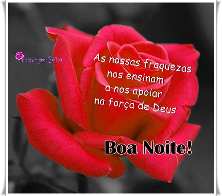 Mensagem de boa noite evangélica com rosas